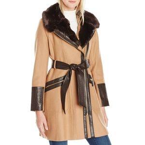 Via Spiga Kate Middleton Camel Wool-Blend Coat